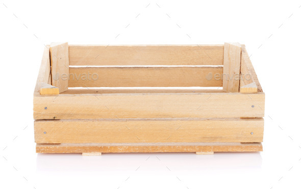 Empty wooden box - Stock Photo - Images