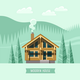 Chalet, Wooden House, Eco House. - GraphicRiver Item for Sale