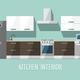 Kitchen Interior. Kitchen Furniture. - GraphicRiver Item for Sale