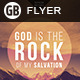 God is the rock | Flyer - GraphicRiver Item for Sale