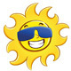 Happy Sun Wearing Glasses - GraphicRiver Item for Sale