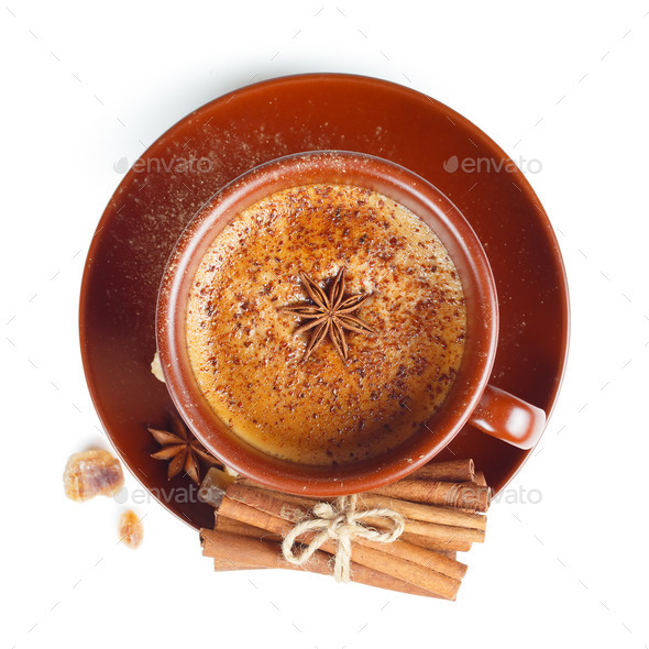 Coffee with Cinnamon  - Stock Photo - Images