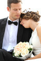 harmonious young newlywed couple