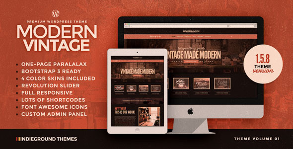 Modern Vintage | One Page WordPress Theme - Creative WordPress