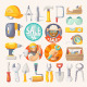 Collection of House Remodeling Tools - GraphicRiver Item for Sale