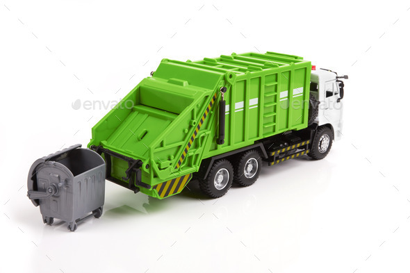 garbage truck - Stock Photo - Images