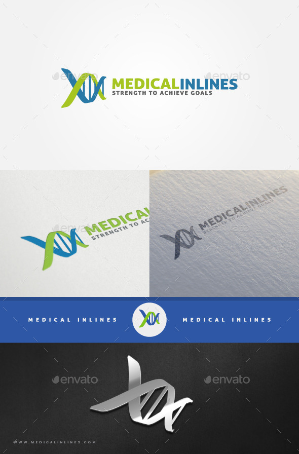 Bio Medical DNA Logo - Abstract Logo Templates