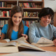 Teens working at library - VideoHive Item for Sale