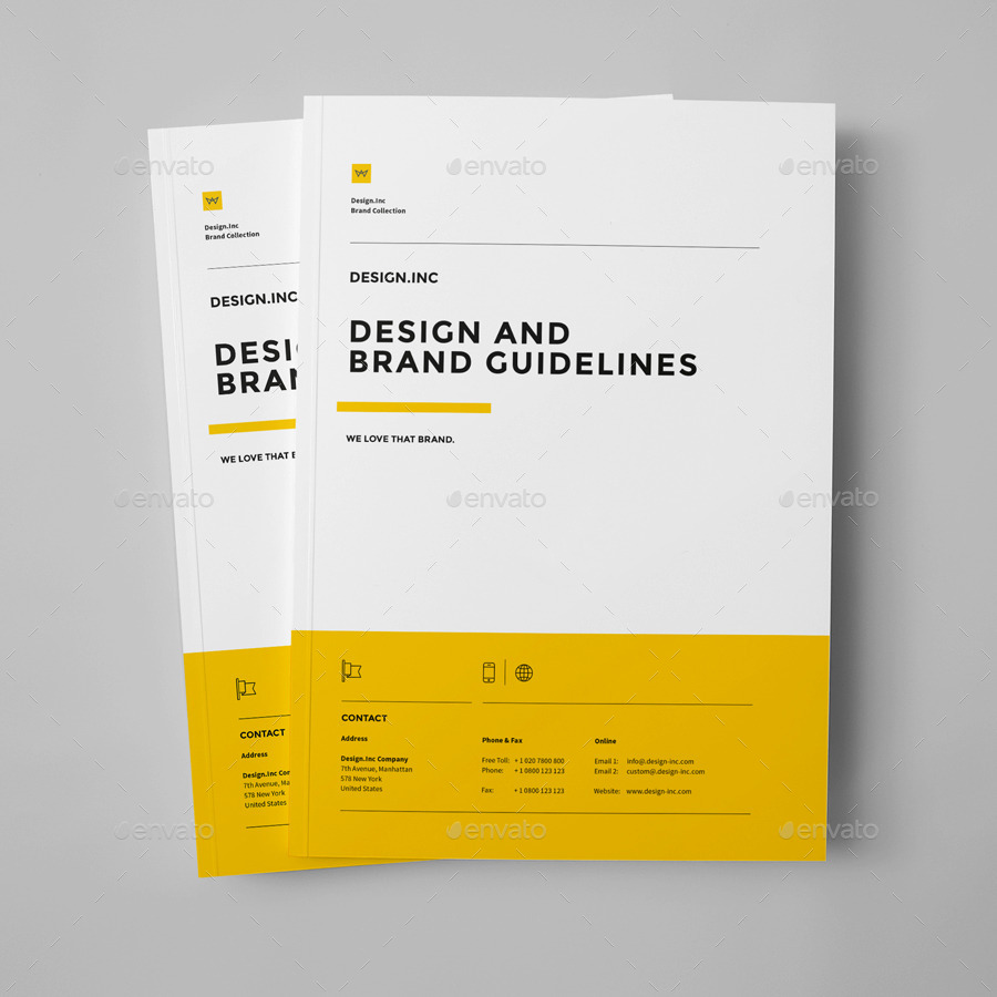 Brand manual by egotype graphicriver for User manual document template