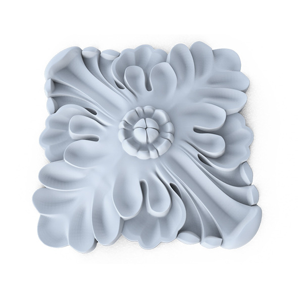 Ornament, wall rosette - 3DOcean Item for Sale