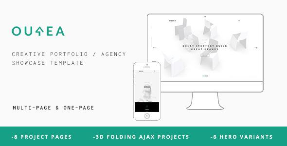 Ourea - Creative Portfolio / Agency Template - Portfolio Creative