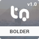 Bolder - Trendy One Page Multipurpose Template - ThemeForest Item for Sale