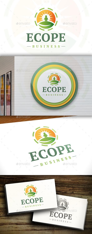 Eco People Logo - Nature Logo Templates
