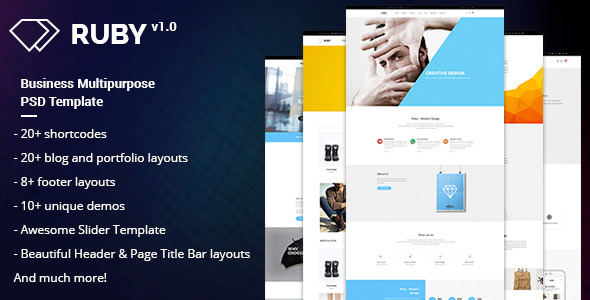 RUBY –  Business Multipurpose PSD Template - Business Corporate
