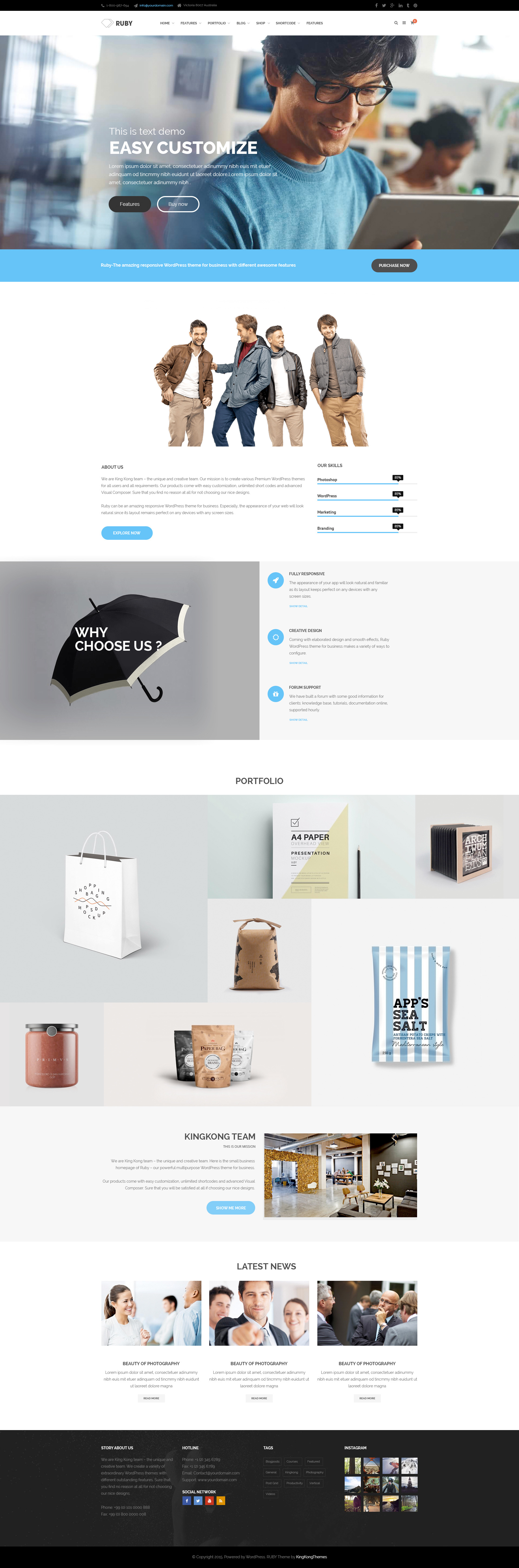 ruby business multipurpose psd template by kingkongthemes