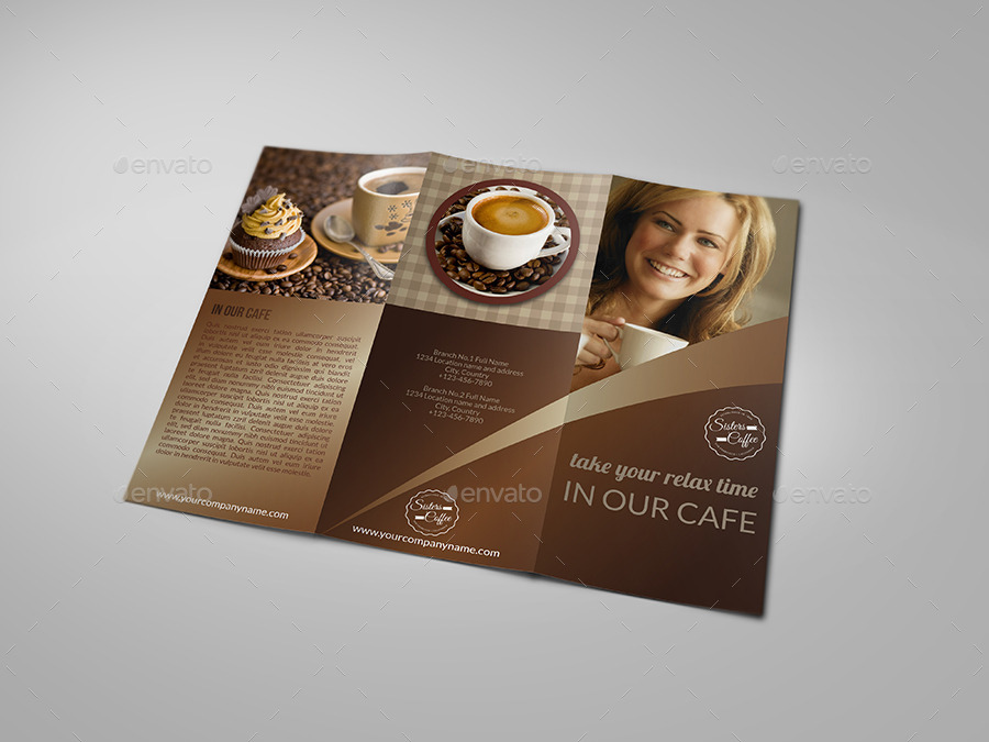 Cafe And Coffee Shop Menu TriFold Brochure By Owpictures  Graphicriver