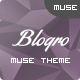 Blogro - One Page Personal Muse Templates - ThemeForest Item for Sale