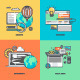 Set of Color Line Icons for Web Development - GraphicRiver Item for Sale