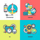 Line Icons for Mobile Site and App Development - GraphicRiver Item for Sale