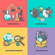 Set of Color Line Icons for Business - GraphicRiver Item for Sale