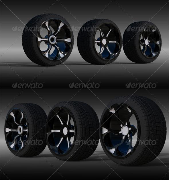 3 Wheel - 3DOcean Item for Sale