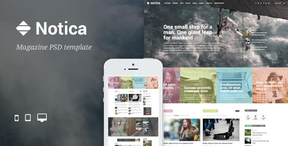 Notica - News Magazine PSD Template