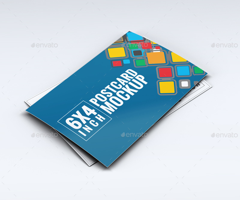 01 Realistic Postcard Mock Up 02 Realistic Postcard Mock Up ...