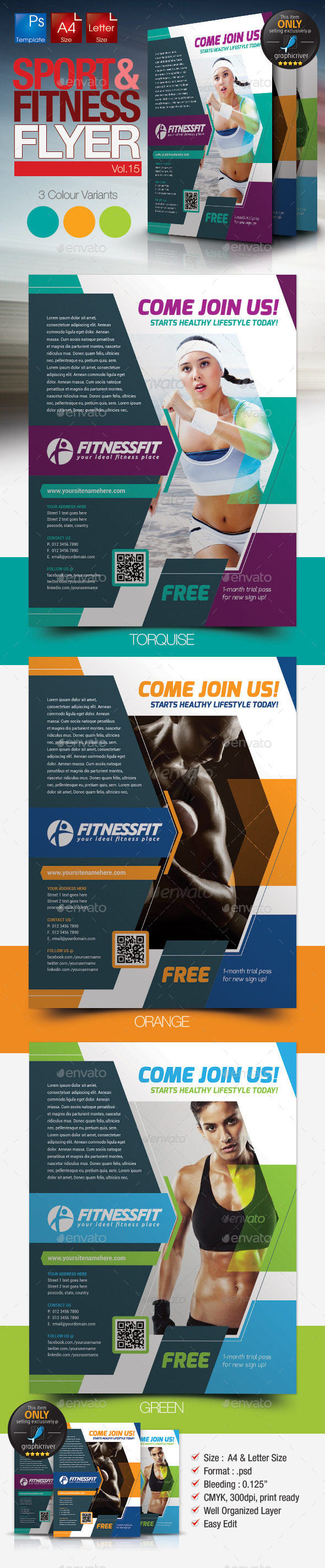 Fitness & Sport Flyer Template Vol.15 - Sports Events