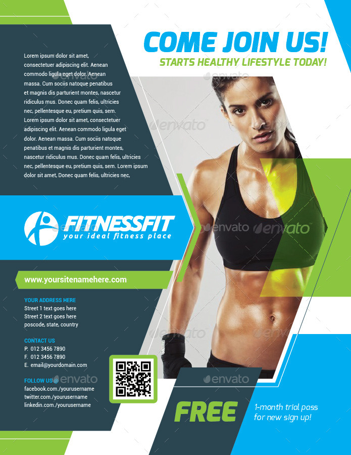Fitness & Sport Flyer Template Vol.15 by kitcreativestudio ...