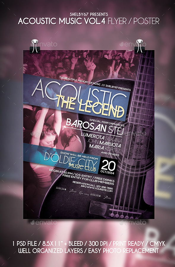 Acoustic Music Flyer Templates Vol.4 - Events Flyers