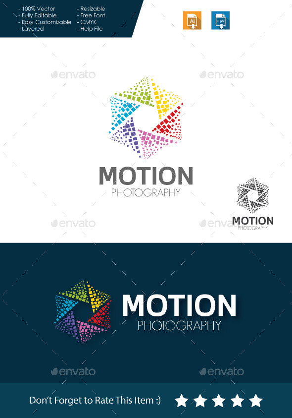 Motion Photography Logo by BiruMuda | GraphicRiver