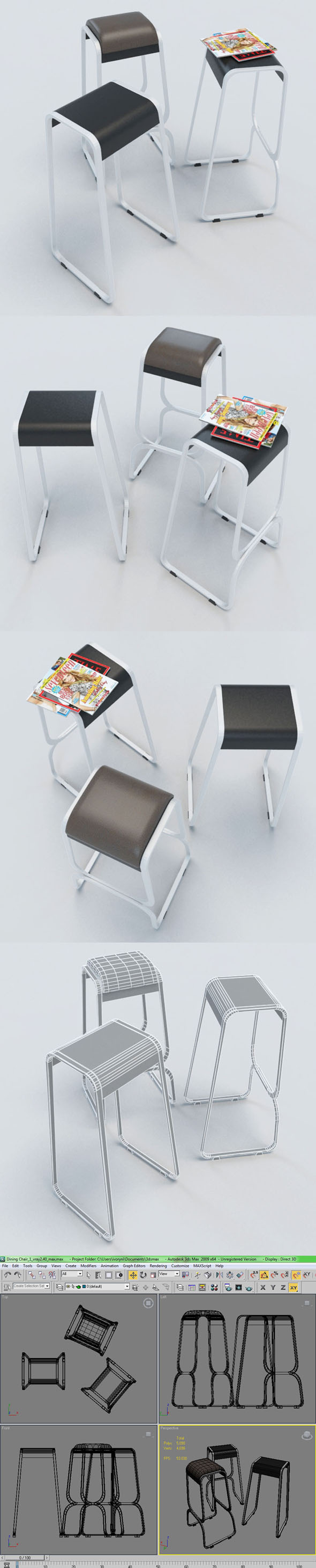 Dining Stool_1 - 3DOcean Item for Sale