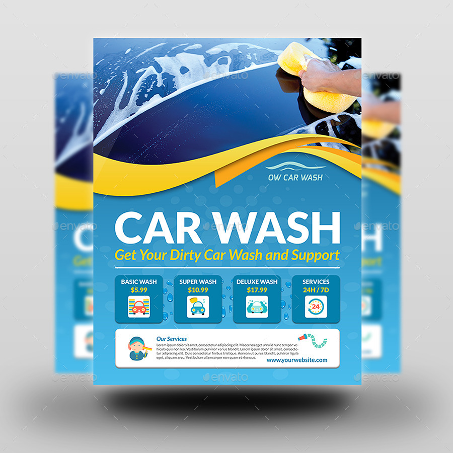 Car Wash Flyer Templates By Owpictures Graphicriver