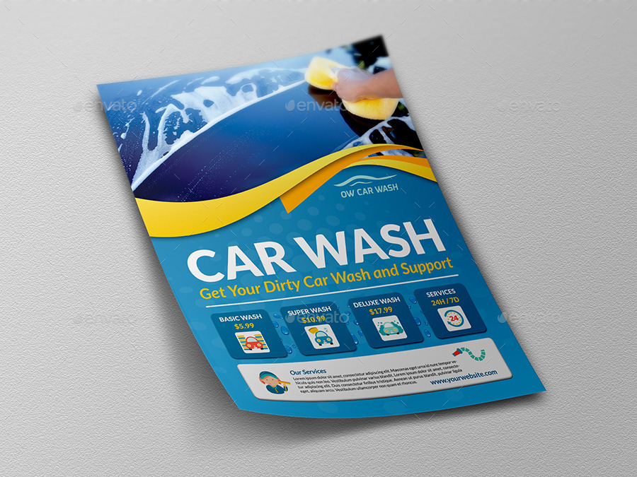 Car Wash Services Flyer Templates By Owpictures | Graphicriver