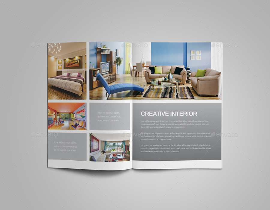Interior design brochure by meenom graphicriver for Art decoration pdf