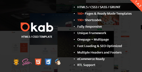 Okab – Responsive Multi-Purpose HTML5 Template