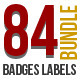 84 Premium Photography Wedding Badge Labels Bundle - GraphicRiver Item for Sale