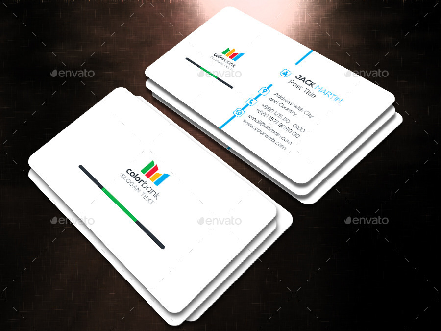 Contemporary Bank Business Card Illustration - Business Card Ideas ...