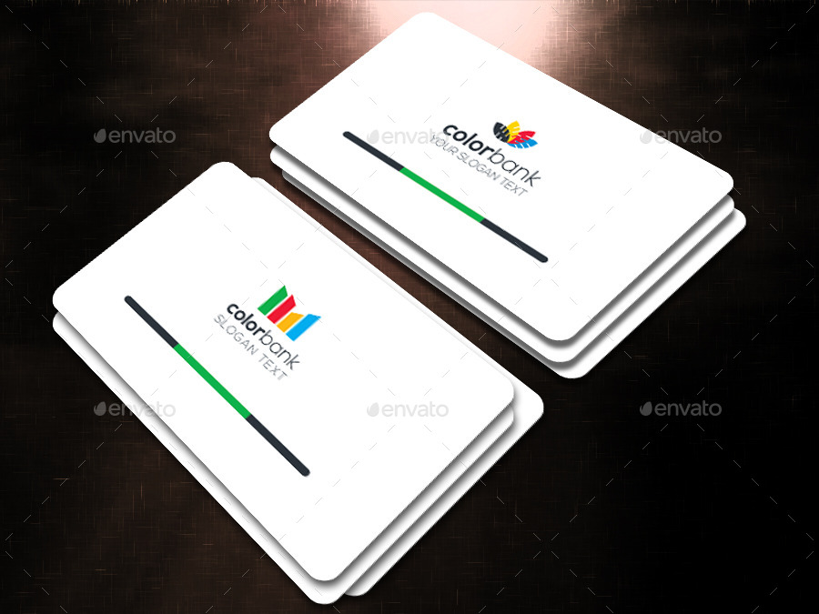 COLOR BANK Corporate Business Card by dhushargraph   GraphicRiver