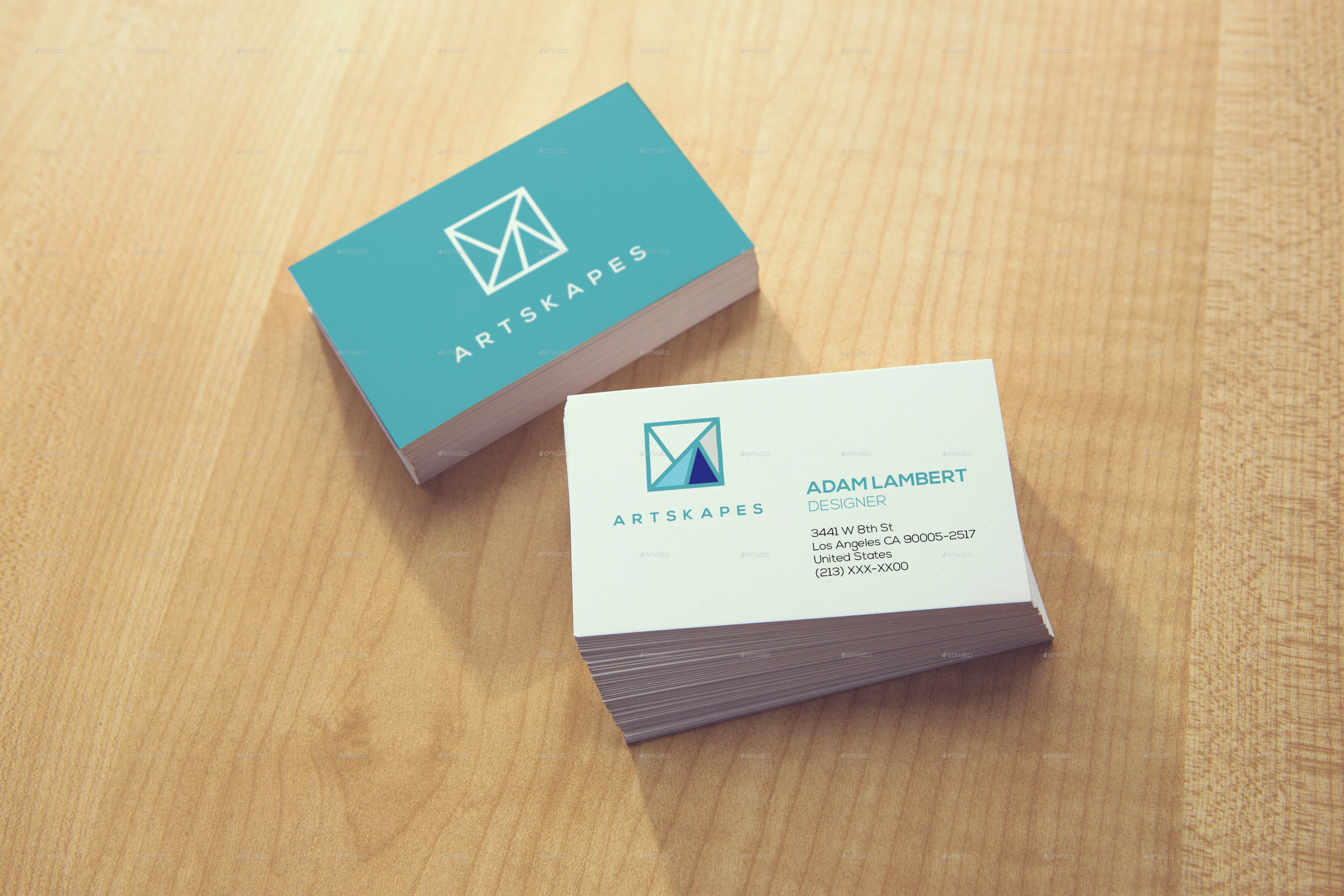 Realistic Business Card Mockups v.2 by Xepeec | GraphicRiver