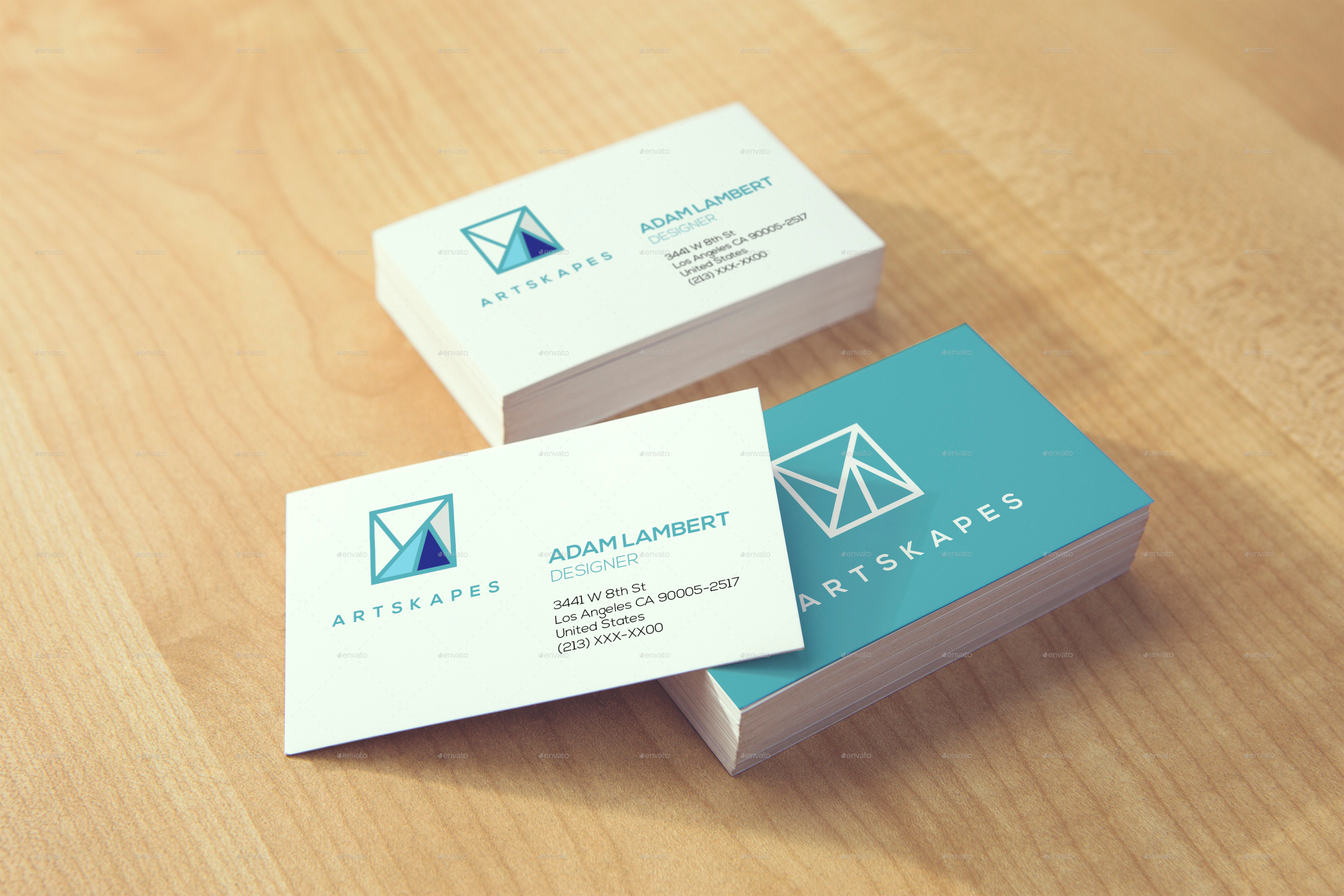 Realistic Business Card Mockups v 2 by Xepeec
