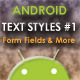 Text Styles Pack for Android - CodeCanyon Item for Sale