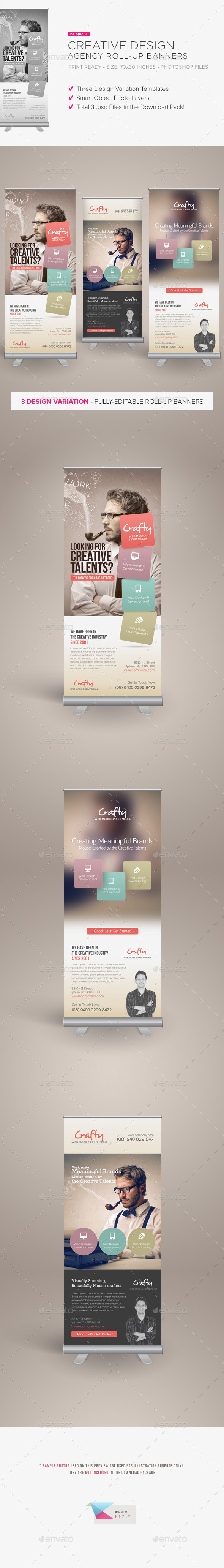 Creative Design Agency Roll-up Banners - Signage Print Templates