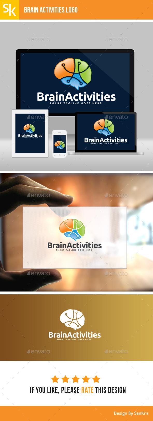 Brain Activity Logo - Symbols Logo Templates