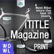 Tech iTitelMagazine  - GraphicRiver Item for Sale