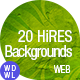20 Premium Backgrounds · High Resolution - GraphicRiver Item for Sale