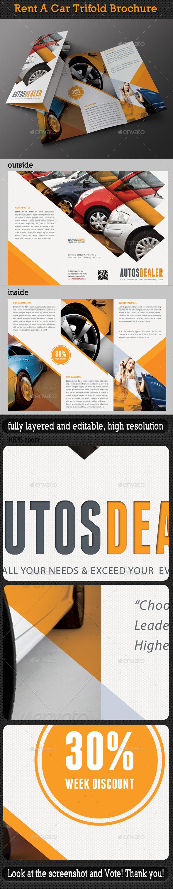 Rent A Car Trifold Brochure 05