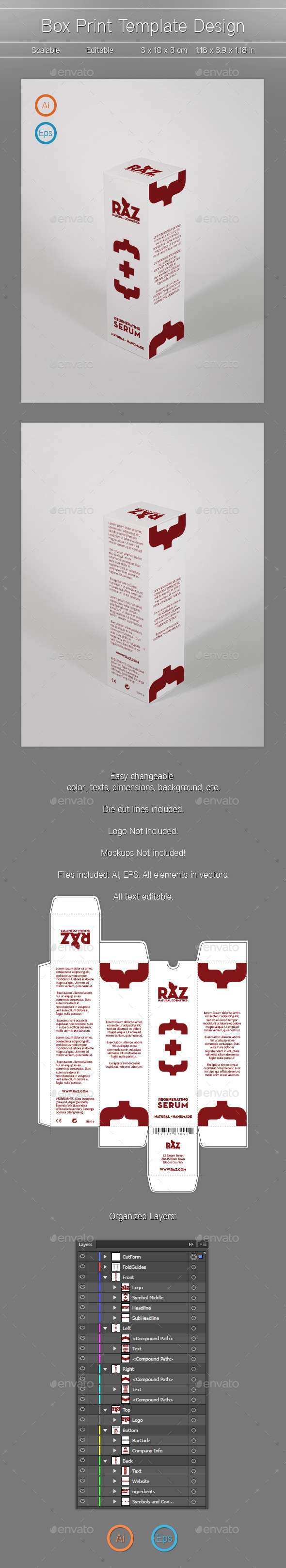 Box Template Design - Packaging Print Templates