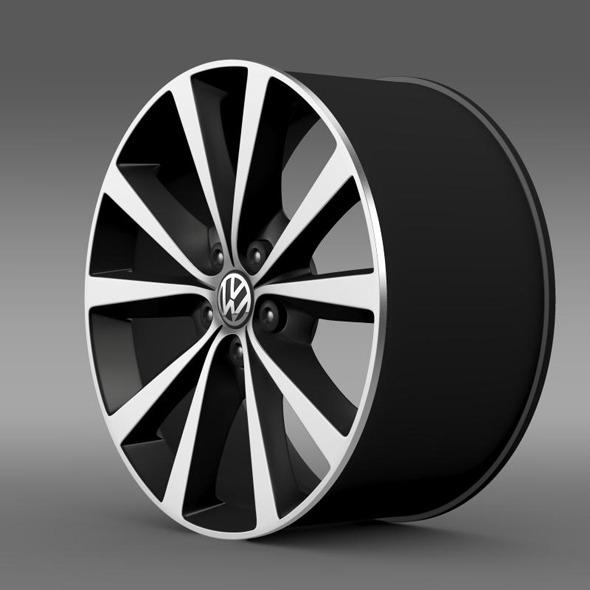 Volkswagen Polo 2014 rim - 3DOcean Item for Sale
