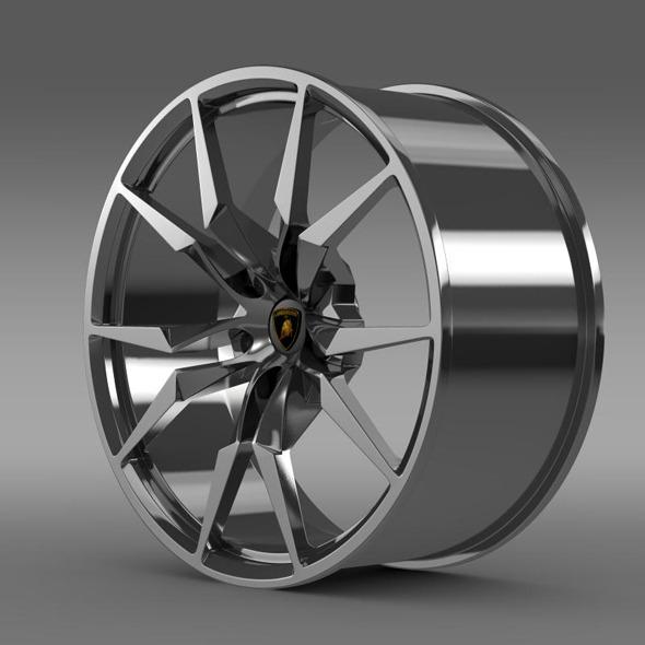 Lamborghini Aventador Roadster rim - 3DOcean Item for Sale